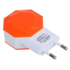 Universal Big Pinwheel 5V 2.1A 2*USB Quick Charger - Orange (EU Plug)