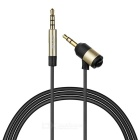 90SMART NS2215 3.5mm Male to Male AUX Car Audio Cable - Black + Gold (100cm)