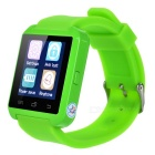 "1.44"" Bluetooth V3.0 Smart Watch w/ Pedometer, Remote Picture - Green"