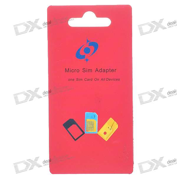 Micro Sim Card to Standard Sim Card Adapter (Black)