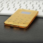 AIEK M3 Bluetooth Low Radiation Single SIM Mini Card Phone - Golden