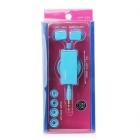 Leapower Retractable 3.5mm Stereo In-ear Earphone with Clip - Blue