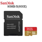 SanDisk Extreme 32 GB microSDHC Memory Card (Newest Version) FFP up to 90 MB/s, Class 10, U3