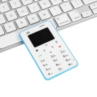 "AIEK X6 Quad Band 4.5mm Mini Card Phone w/ 1.4"" Screen / FM - Blue"