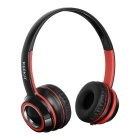 KEEKA 3.5mm Wired Gaming Headband Headsets Headphones w/ Mic. & Remote Wire Control - Red + Black