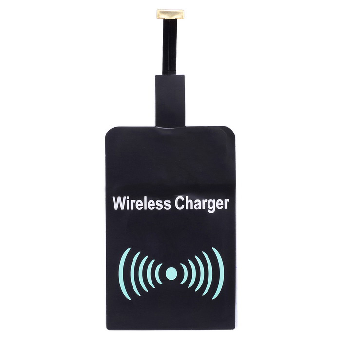 Reverse Universal Qi Wireless Charging Receiver - Black