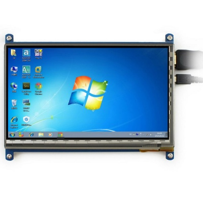 Waveshare 7inch 1024*600 HDMI LCD for Raspberry Pi, Banana
