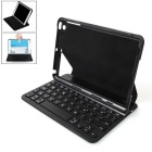 B.O.W HB135 Magnetic Switch Bluetooth V3.0 Keyboard w/ Leather Case for IPAD MINI 1/2/3 - Black