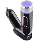 Bluetooth Hands-free Car FM Transmitter with Remote Control / MP3 - Black