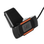 Sin conductor 12.0MP HD clip-on webcam w / micrófono para la computadora - negro