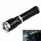 KINFIRE XM-L2 U2 90m Waterproof 900lm Cool White LED Diving Flashlight - Black + Silver (1 x 18650)