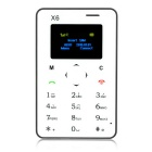 "AIEK X6 Quad Band 4.5mm 1.4"" Mini Card Mobile Phone w/ FM - Black"