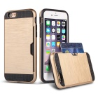 Protective TPU + PC Back Case w/ Card Slots for IPHONE 6 PLUS - Gold