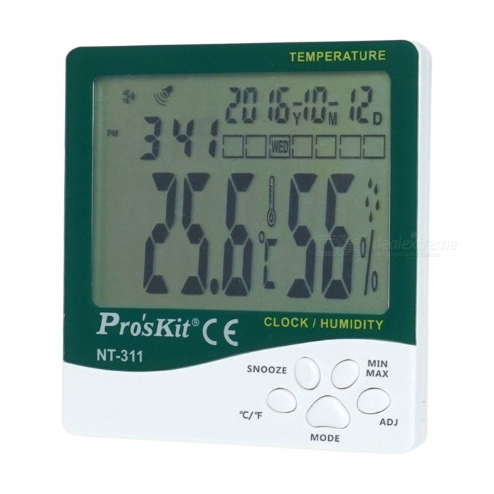 Pro's Kit NT-311 3.9'' LCD Temperature Humidity Meter (1*AAA)