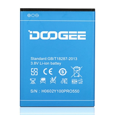 DOOGEE Rechargeable Replacement 2200mAh 3.8V Li-ion Battery for DOOGEE VALENCIA2 Y100 Pro - Blue