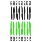 5030 Multirotor CW CCW Propeller Set for Quadcopter Qav250 Prop - Black + Green (8 Pairs)
