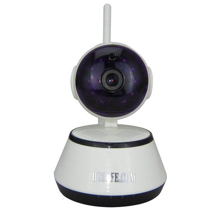 HOSAFE Wireless HD 720P IP Camera w/ 10-IR-LED - White (EU Plug)