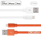 Yellowknife MFi 8pin Lightning to USB Cable for IPHONE 6 / 6S PLUS - White + Orange (2 PCS / 1m)
