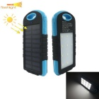 Outdoor Camping Solar Powered 5000mAh Power Bank w/ LED Light for IPHONE, Samsung, Xiaomi