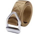 Tactical Triangular Metal Buckle Outdoor Nylon Belt - Khaki