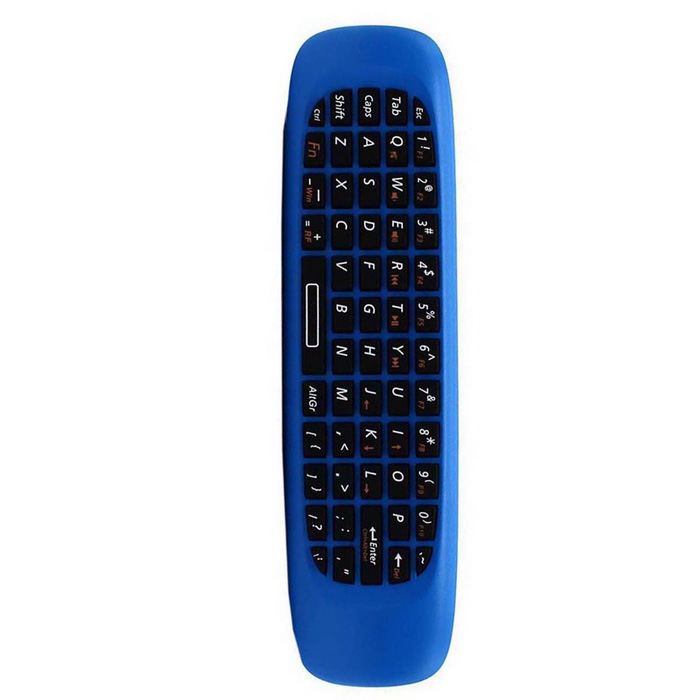 WS-505 Air Mouse Wireless QWERTY Keyboard w/ IR Learning - Blue