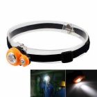 Water Resistant 3-LED 280lm 3-Mode Cool White Light Mini Headlamp Working Lamp - Yellow + Black
