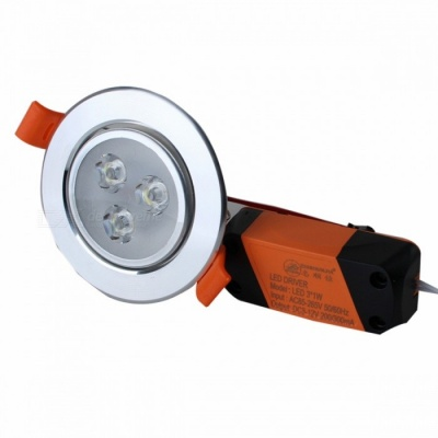 ZHISHUNJIA SY03 3W 3-LED Ceiling Light Lamp Warm White 3500K 200lm