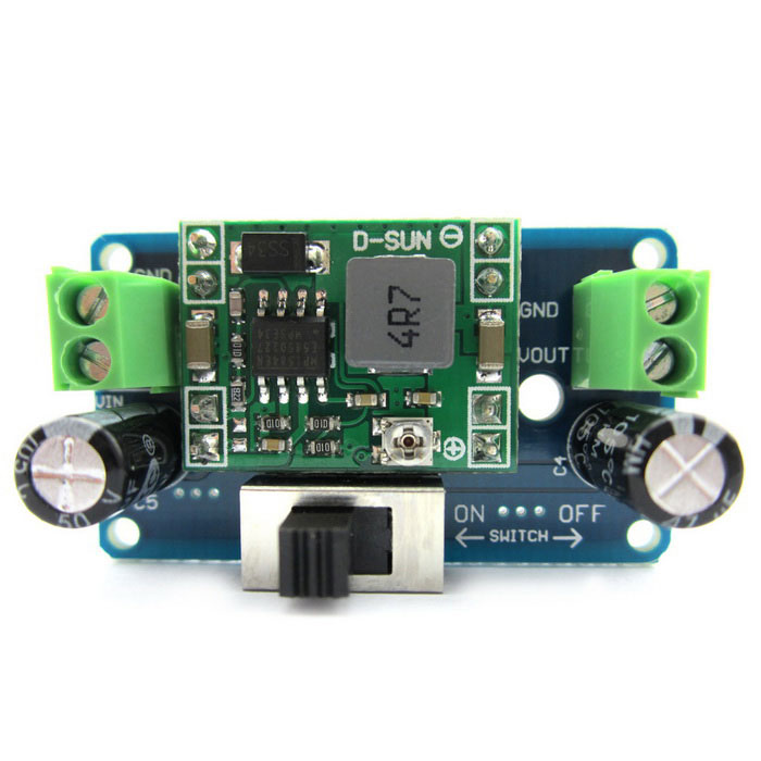 MP1584 5V 4.5~24V Adjustable Buck Converter Step-down Regulator ModulePower Module<br>Form  ColorBlue + BlackModelN/AQuantity1 DX.PCM.Model.AttributeModel.UnitMaterialPCB + alloy + plasticInput Voltage4.5~24 DX.PCM.Model.AttributeModel.UnitOutput Voltage1.2~20 DX.PCM.Model.AttributeModel.UnitMax. Output Current2 DX.PCM.Model.AttributeModel.UnitMax. Output Power10 DX.PCM.Model.AttributeModel.UnitConversion Efficiency92%English Manual / SpecYesDownload Link   http://pan.baidu.com/s/1mghCIFIOther FeaturesA product for Arduino that works with official Arduino boards.Packing List1 x Buck Converter adjustable module<br>