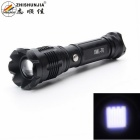 ZHISHUNJIA HW-02T6 XM-L T6 900lm 5-Mode White Zooming Flashlight - Black (1 x 18650 / 3 x AAA)