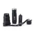 ZHISHUNJIA HW-02T6 XM-L T6 5-Mode White Zooming Flashlight - Black
