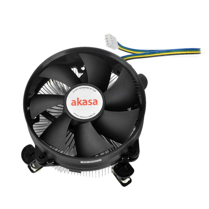 Akasa Dual Mounting Cooler for Intel Core2Quad, Core i5 + More - Black