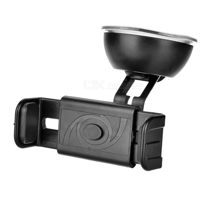 360 Degree Rotary Car Suction Cup Auto Lock Mount Holder for Mobile Phones / GPS - Black