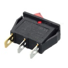 KCD3 Boat Shaped 3-Pin Rocker Switches - Black (10PCS)