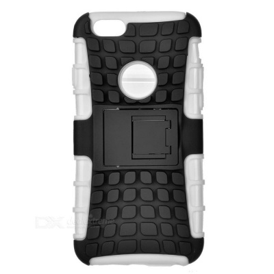 ABS Back Cover Armor Case w/ Stand for IPHONE 6S - White + Black