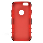 ABS Back Cover Armor Case w/ Stand for IPHONE 6S - Red + Black