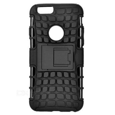 ABS Back Cover Armor Case w/ Stand for IPHONE 6S - Black