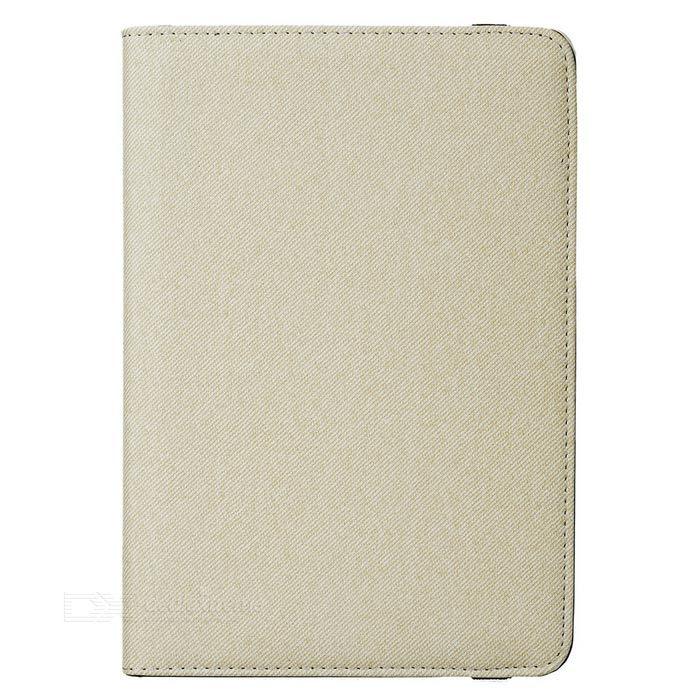 Cwxuan rotatable caja de la PU protectora para IPAD MINI 4 - off-white
