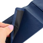 JIN BAO LAI Men's Fashionable PU Bifold Wallet - Sapphire Blue