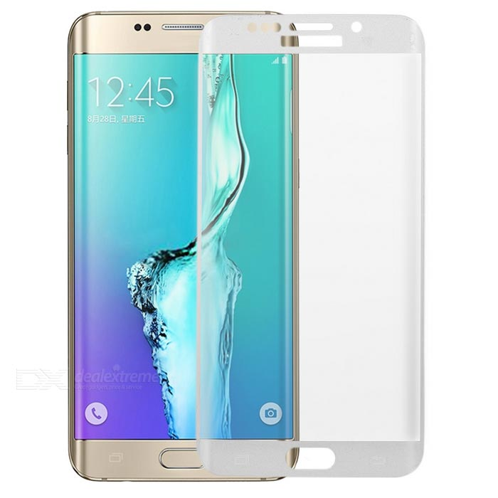 S-What 3D Arc Full Cover Tempered Glass Screen Protector Guard for Samsung S6 Edge Plus