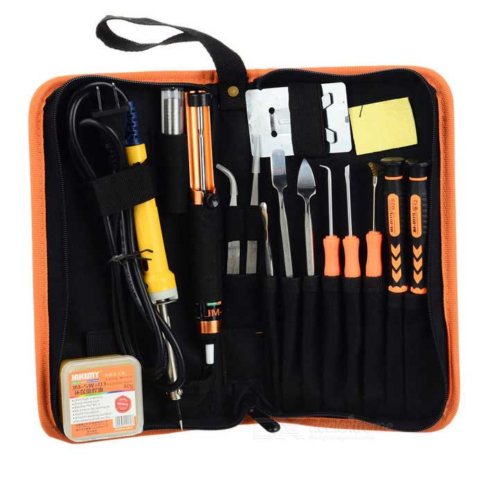 JAKEMY JM-P03 Zippered Cloth Bag 17-in-1 DIY Entry-level Welding Kit
