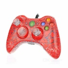 USB Wired Game Controller Joystick Gamepad for XBOX 360 - Red + Transparent + Multicolored