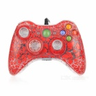 USB Game Controller Joystick Gamepad for XBOX 360 - Red + Transparent