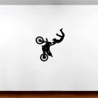 Cycling Pattern Wall Decal PVC Wall Sticker - Black