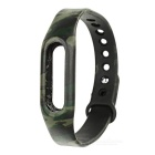 Replacement TPE + TPU Wrist Band Strap Wristband for Xiaomi Smart Bracelet - Army Green Camouflage