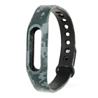 Replacement TPE + TPU Wrist Band Strap Wristband for Xiaomi Smart Bracelet - Camouflage Grey
