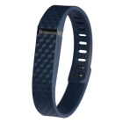 3D Stereo Texture Silicone Wristband for Fitbit Flex - Deep Blue