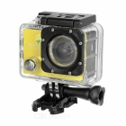 "Outdoor 2.0"" LTPS CMOS 14MP 1080P Mini DV / Sports Camera w/ TF, Wi-Fi - Light Yellow + Black"