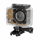 "Outdoor 2.0"" LTPS CMOS 14MP 1080P Mini DV / Sports Camera w/ TF, Wi-Fi - Champagne + Black"