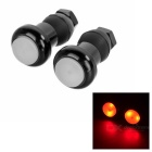 Bicycle Handlebar Bar End Red Light 2-Mode LED Warning Safety Light (2 x AG10 / Pair)
