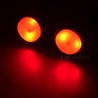 Bicycle Handlebar End Red Light 2-Mode LED Safety Light - Black (Pair)